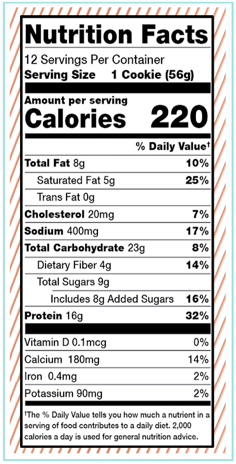 Alani Nu - Protein Cookie - Choc Chip Cookie Facts