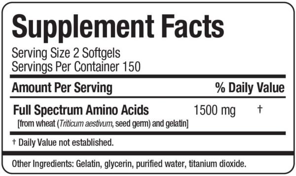 Allmax - Amino Gel - 300 Softgel Caps Info