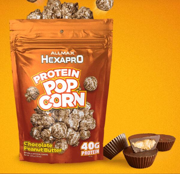 Allmax - HEXAPRO PROTEIN POPCORN - Chocolate Peanut Butter - www.flexfuelsupplements.ca