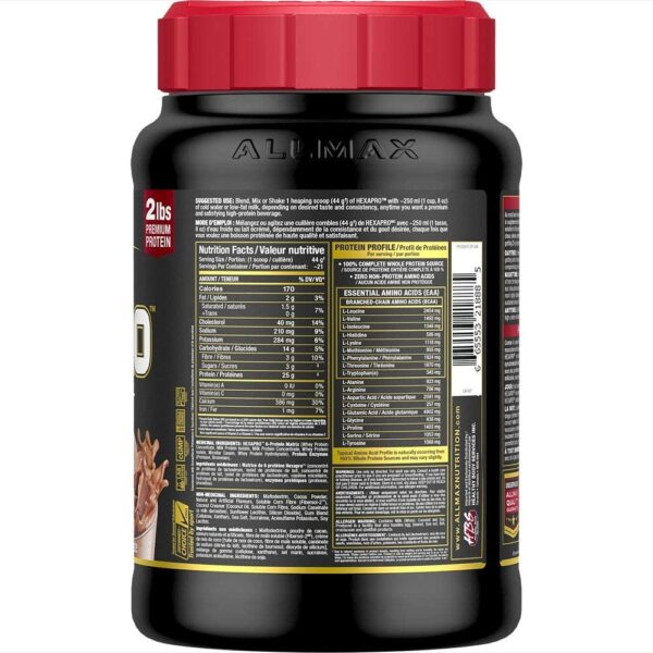 Allmax - Hexapro - Chocolate 2lbs - Back