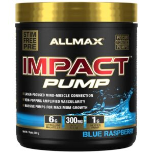 Allmax Impact Pump -Blue Raspberry 360g